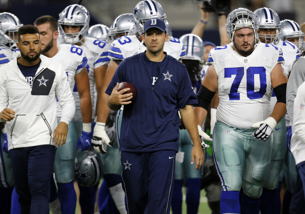 Tony Romo says Dak Prescott has earned the right to take his job as starting quarterback of the Dallas Cowboys. Prescott, a rookie, and the Cowboys have won eight straight games and have the best record in the NFL.