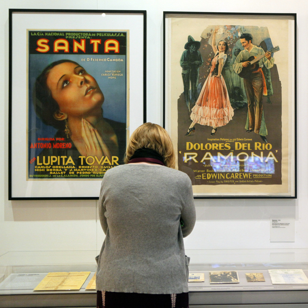 Posters featuring Lupita Tovar and Dolores del Rio were showcased at LA Plaza de Cultura y Artes in Los Angeles in April 2011.