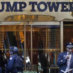 """The closely guarded Trump Tower in New York City is where President-elect Donald Trump has been spending almost all of his time. Trump has refused calls to sell or give his business interests to an independent manager or """"blind trust,"""" a long-held presidential tradition designed to combat conflicts of interest."""