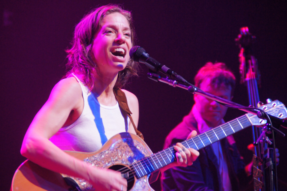 Ani DiFranco, a folk-punk icon beginning in the 1990s, put on a vital show at Portland's State Theatre that was part political rally, part remembrance and all sincere.