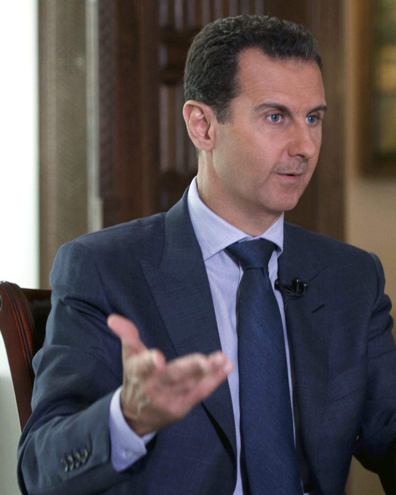 Syrian President Bashar Assad has resisted ending a conflict that has killed an estimated 400,000.