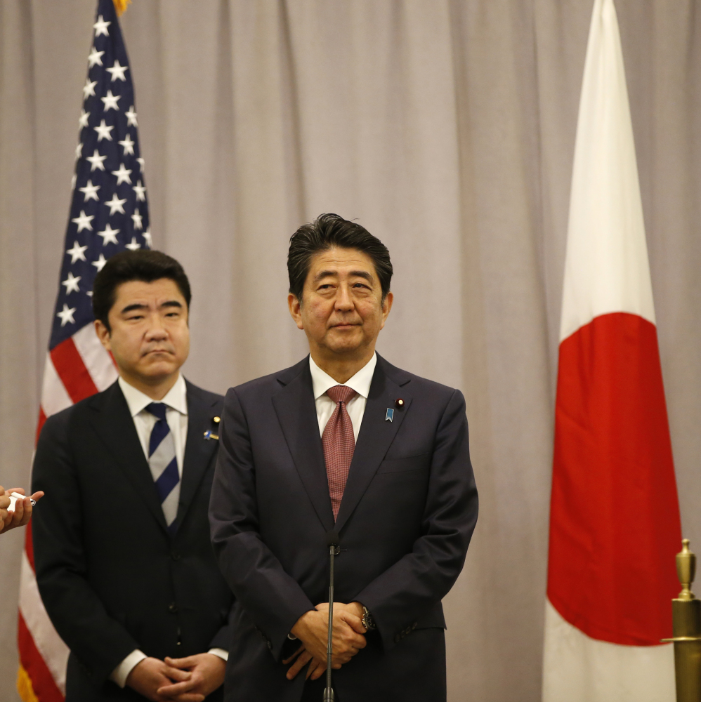 Japanese Prime Minister Shinzo Abe met Thursday with President-elect Trump. Japan is concerned about Trump's positions on trade, military bases and other issues.
