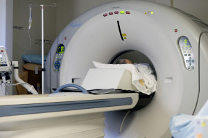 A patient gets a CT scan at Mayo Regional Hospital. The population in rural Maine is trending older and poorer, which translates to lower payments – read government reimbursements – to local hospitals.