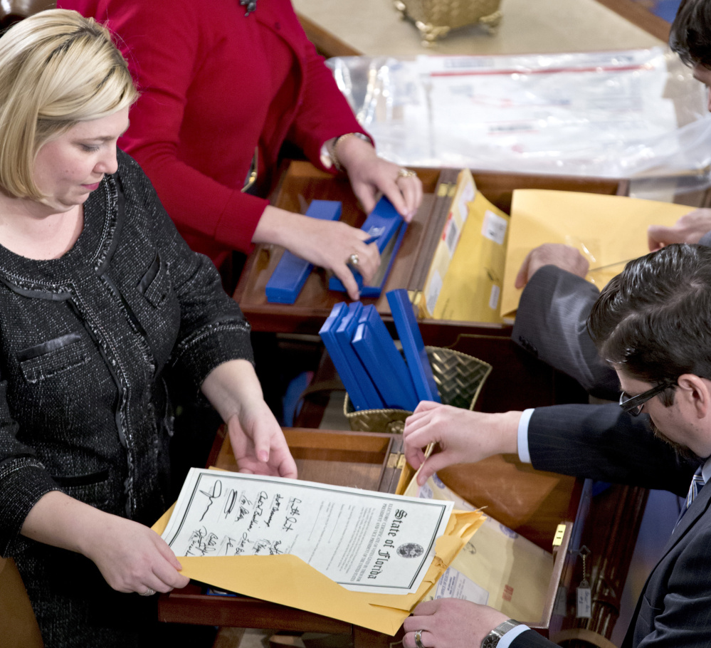 When clerks unsealed the results of all 50 states during a meeting of the Electoral College on Capitol Hill on Jan. 4, 2013, there was no question that President Obama would be re-elected. And there's little question that Donald Trump will succeed him.