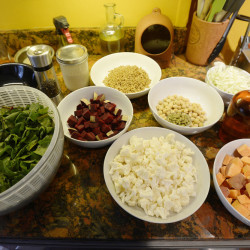 BRUNSWICK, ME - NOVEMBER, 15: The ingredients for Roasted Winter Buddha Bowl. Green Plate Special Tuesday, November 15, 2016. (Photo by Shawn Patrick Ouellette/Staff Photographer)