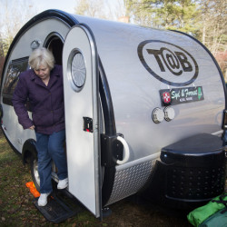 Alna residents Sydney and Forrest Faulkingham enjoy their retirement years even more with the TAB teardrop trailer that they bought this year and took on their first cross-country trip this fall, and can't wait to do it again next year. Only next time they won't overpack.