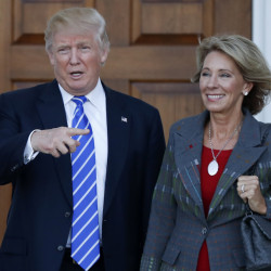 President-elect Donald Trump's choice of Betsy DeVos as education secretary is seen to suggest little regard for public schools and raise concerns about church-state separation.