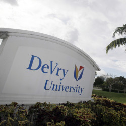 "DeVry University in Miramar, Fla., is part of the for-profit sector that has seen steep declines since 2010.  ince Donald Trump's election on Nov. 8, 2016, shares in the parent company of DeVry University have increased to their highest value in more than a year. The DeVry Education Group said in a statement that it will work with the incoming Trump administration and ""offer suggestions and reforms for higher education."" (AP Photo/J Pat Carter, File)"