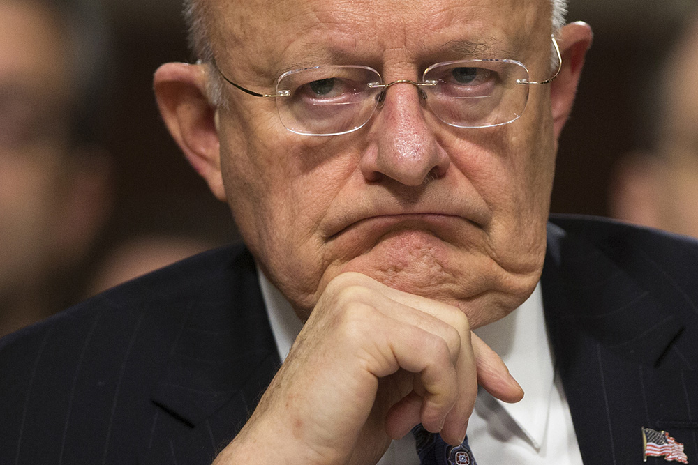 Director of National Intelligence James Clapper listens during an intelligence hearing on Capitol Hill on Feb. 9, 2016. <em>Associated Press/Evan Vucci</em>