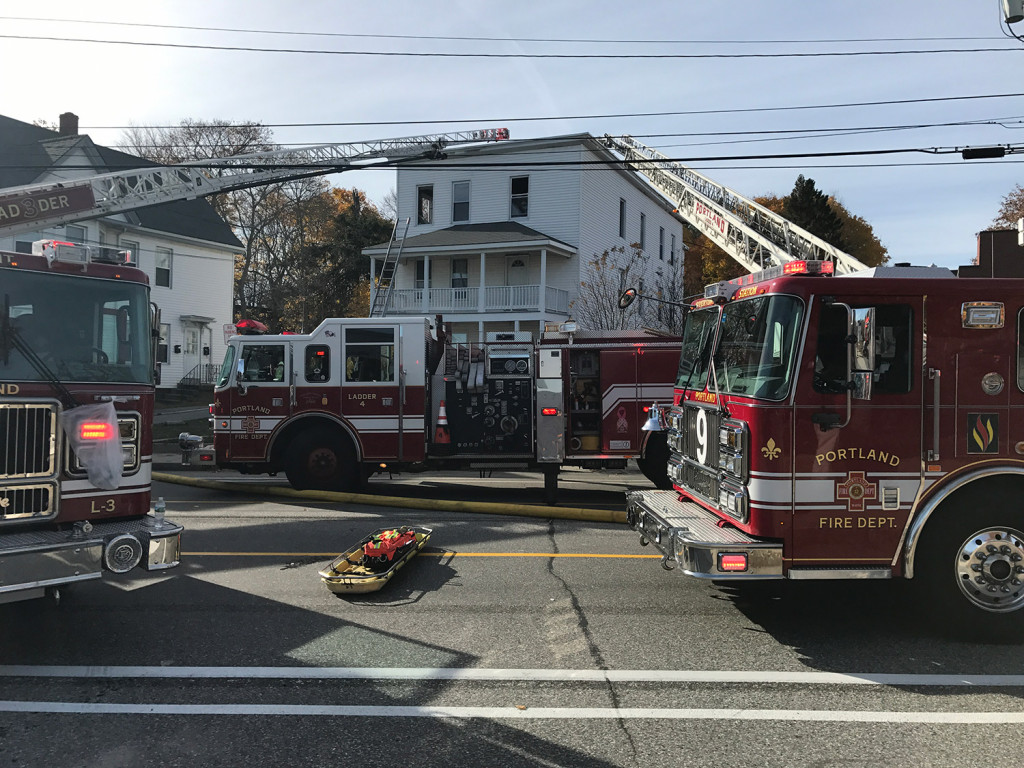 Firefighters quickly extinguished a fire at 1066 Forest Ave. around noon on Thursday.
