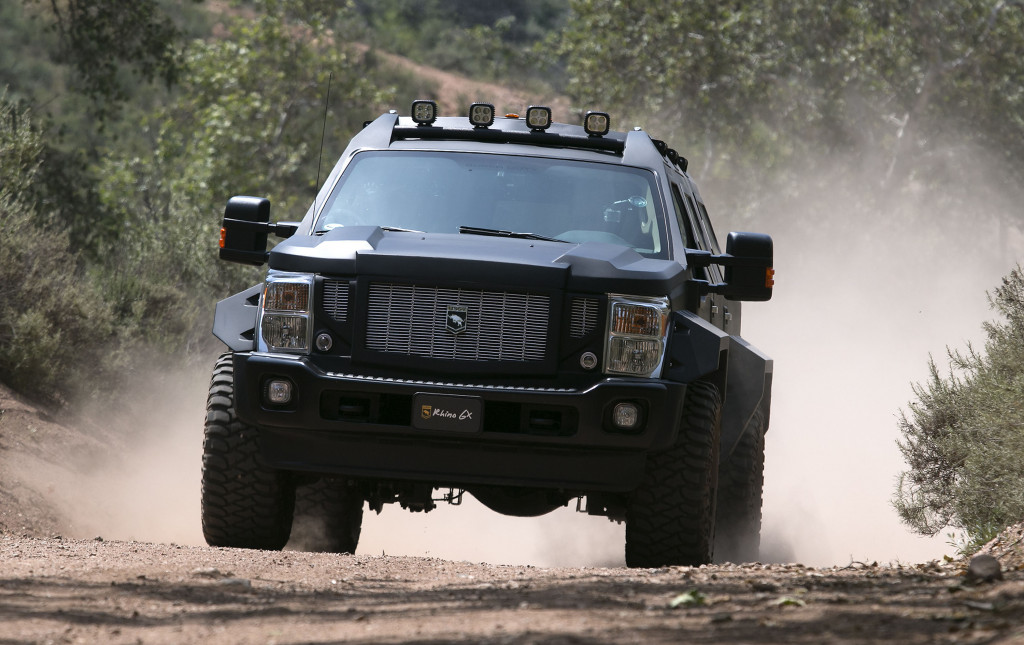 The Rhino GX from US Specialty Vehicles is a nearly five-ton, $250,000 beast of an SUV built on a Ford Super Duty chassis.