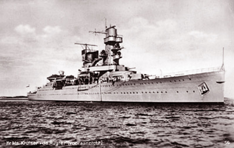Dutch cruiser HNLMS De Ruyter (shown in a 1936 photo), is one of the ships that was sunk during the Battle of the Java Sea. <em>Royal Netherlands Navy via Wikipedia </em>