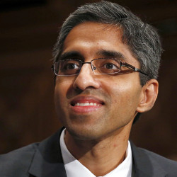 """U.S. Surgeon General Dr. Vivek Murthy calls for a major cultural shift in the way Americans view drug and alcohol addiction. The report, """"Facing Addiction in America,"""" details the toll addiction takes on the nation and explains how brain science offers hope for recovery.  Associated Press/Charles Dharapak"""