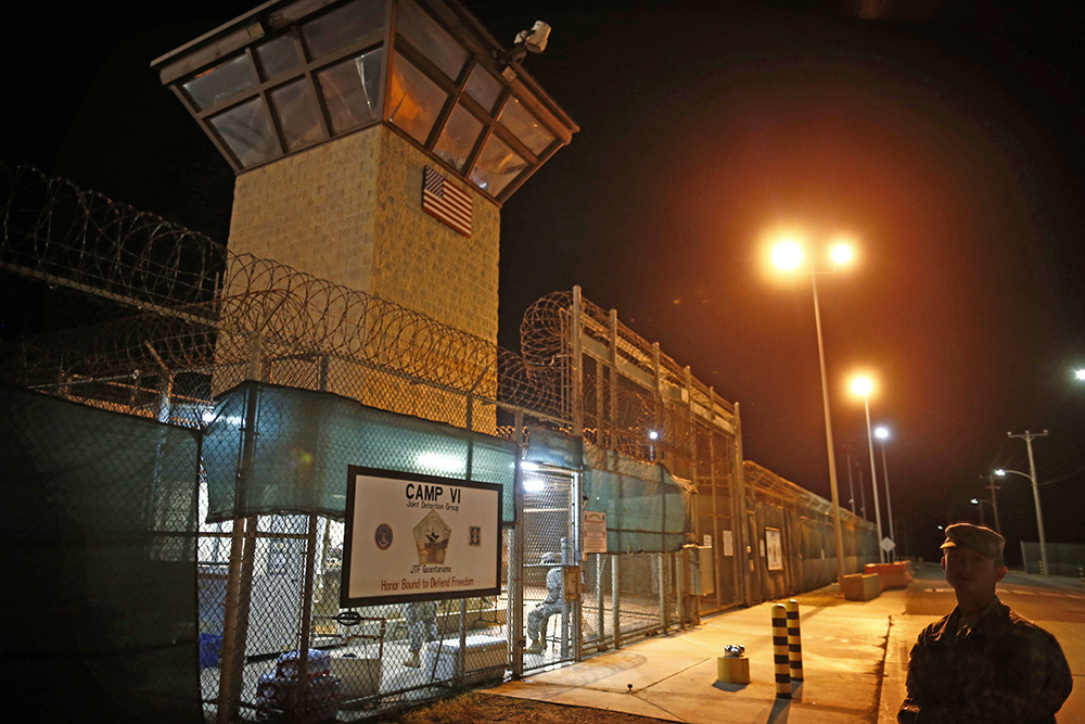 The entrance to Camp VI detention facility at Guantanamo Bay Naval Base, Cuba, in a Nov. 20, 2013, photo. Currently, there are 60 prisoners remaining at the facility, with only a third of them cleared for release. <em>Associated Press/Charles Dharapak</em>