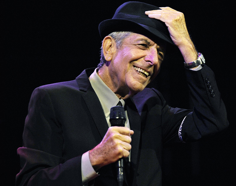 Leonard Cohen performs in 2009 during the first day of the Coachella Valley Music & Arts Festival in California.