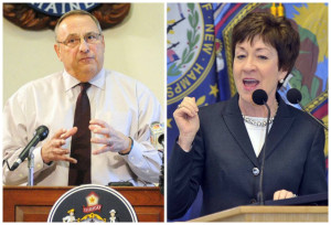 """Gov. Paul LePage said on a radio talk show, """"I think Susan Collins is done in Maine."""" Her spokeswoman disagreed, and said Maine's senior U.S. senator is """"looking forward to many more years of service to Maine."""""""