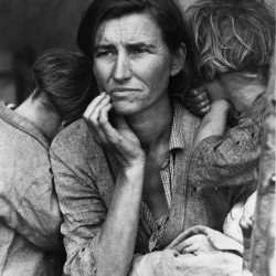 "Migrant farm worker Florence Owens Thompson and two of her seven children were photographed in 1936 in a pea pickers' camp in Nipomo, Calif. FDR's ""Second Bill of Rights"" sprang from the misery of the Great Depression; a 21st-century economic bill of rights can draw on the tragedy of the Great Recession."
