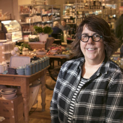 Sharon Smiley owns Local Market, a mix of cafe and deli, market stand, local foods and goods, which opened in Brunswick in 2012.