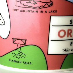 Contary to what Starbucks' new coffee cup says, Klamath Falls is a town in southern Oregon, not a waterfall itself.