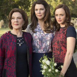 "Kelly Bishop, left, Lauren Graham and Alexis Bledel reunite for ""Gilmore Girls: A Year in the Life,"" which is streaming on Netflix."