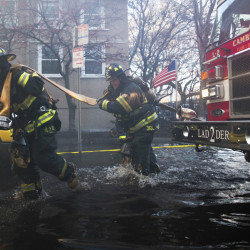 About 25 communities aided the Cambridge, Mass., fire department in a Saturday blaze.