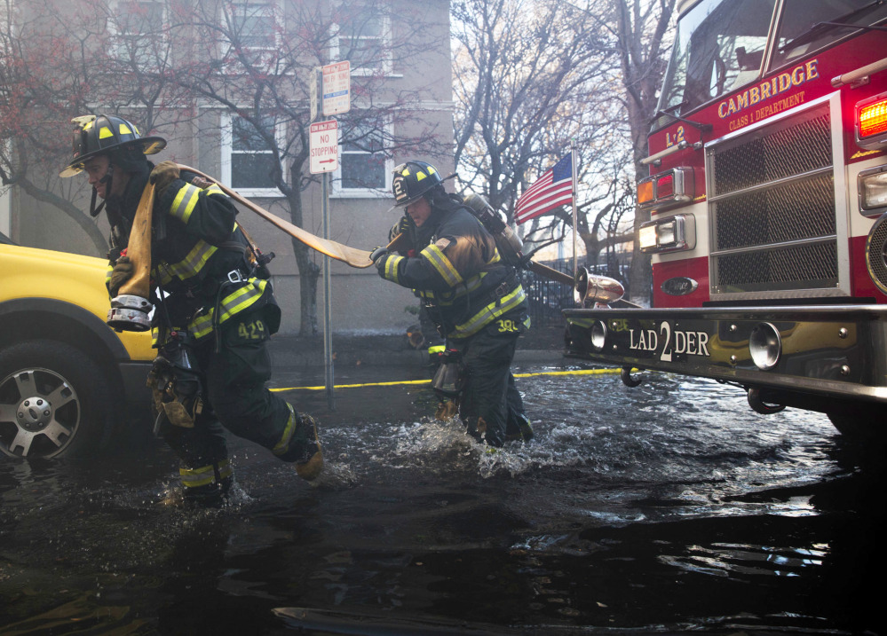 Firefighters anxious more buildings could collapse after MA fire