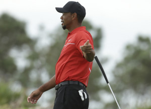 Red shirt, black pants. It must have been Tiger Woods on a golf course on a Sunday. And there was he was, shooting a 76 to end his first tournament since August 2015.