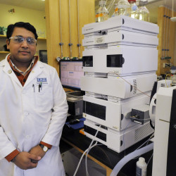 Srinidi Mohan was doing unrelated research on nutritional supplements when he made a discovery that he believes could be useful in detecting certain types of breast cancer.