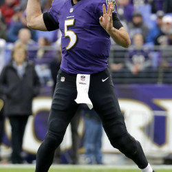 Ravens quarterback Joe Flacco racked up a franchise record 36 completions in a convincing 38-6 win over Miami on Sunday.