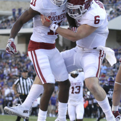 Oklahoma has two Heisman contenders this year in quarterback Baker Mayfield, right, and receiver Dede Westbrook.
