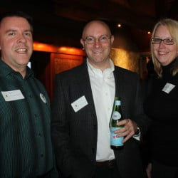 Friends of Evergreen board member Bjorn Swenson, volunteer John Thibodeau and Executive Director Jessica Siraco.