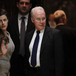 Rep. Tom Price, R-Ga., stands in an elevator as he arrives at Trump Tower last month. Price is the president-elect's choice to head the Department of Health and Human Services and back a rapid and traumatic repeal of the Affordable Care Act, putting millions of Americans into limbo regarding their health insurance.