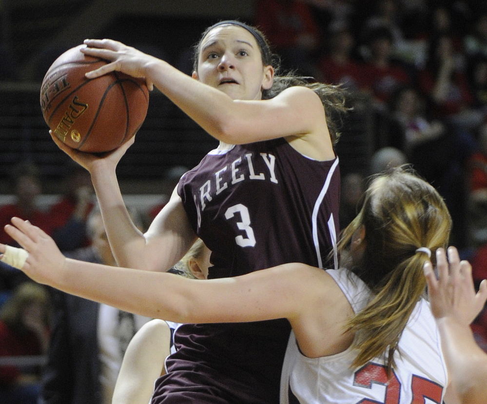 Moira Train, a senior forward/center, is one of three returning starters for Greely, a deep and talented team that enters the season as the favorite in Class A South.