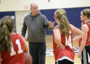 "Mike Andreasen, coach at Gray-New Gloucester, is just trying to keep things simple to start the season. ""I think teams can make the mistake of looking ahead to the end of the journey, whether they get there or not."""