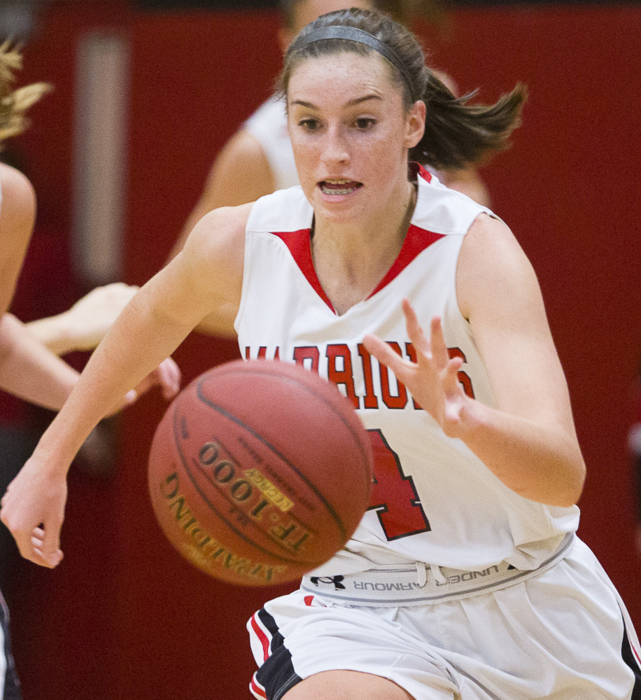 Wells guard Natalie Thurber, who received all-WMC accolades last season despite missing six games because of an injury, is part of a starting lineup that returns intact.