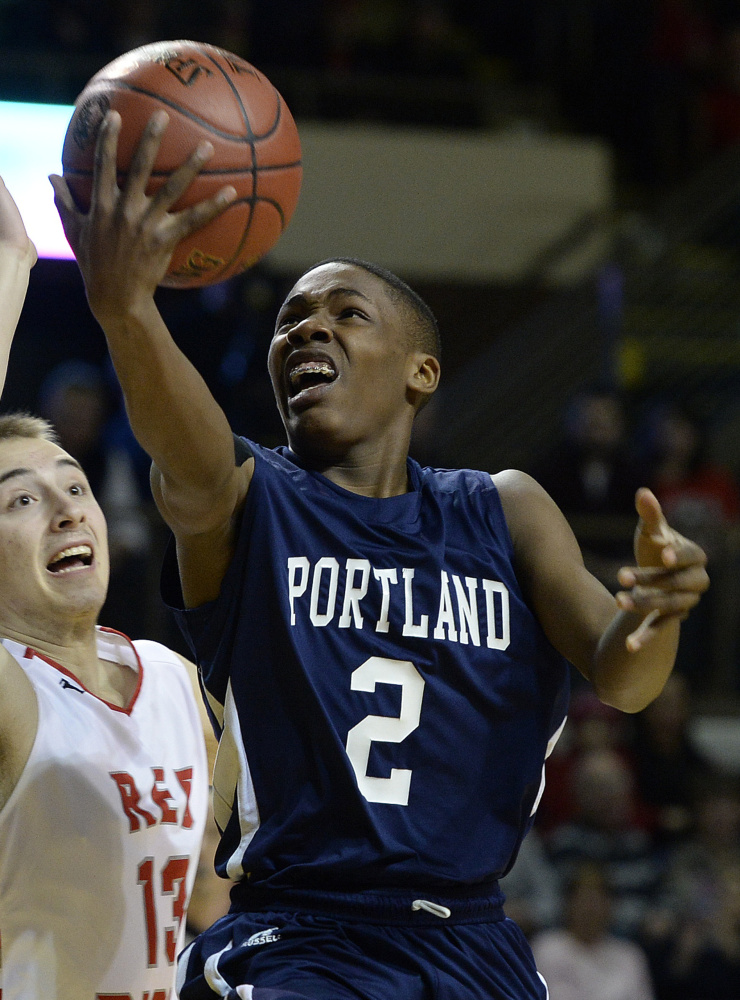 Terion Moss was one of the state's best all-around players as a sophomore, leading Portland to the Class AA championship.