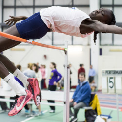 When she wasn't busy playing for the Westbrook basketball team last winter, Nyagoa Bayak was breaking records as a high jumper on her way to winning the Class A championship.