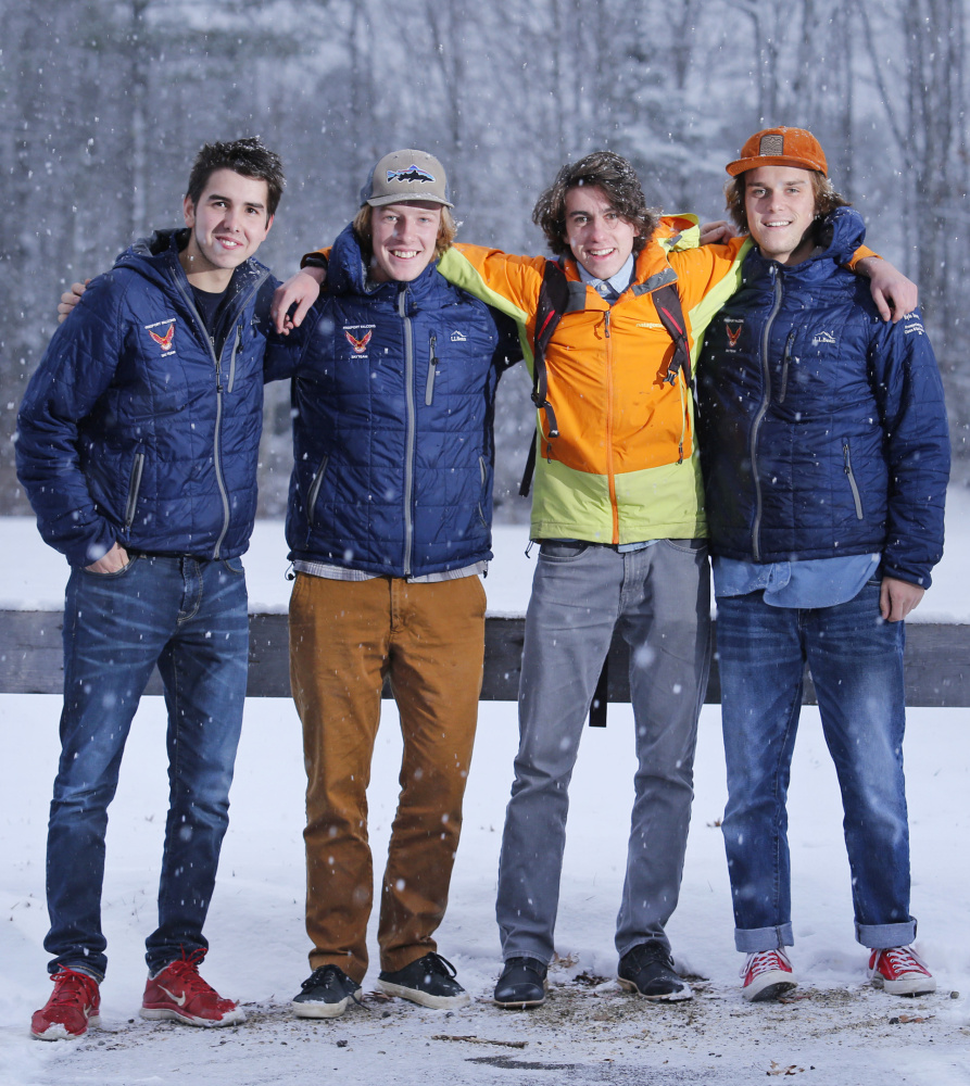 Freeport's interchangeable foursome of Nordic skiers – John Smail, Bennett Hight, Yacob Olins and Kyle Dorsey – hope to have plenty of fun defending a state title in their senior season.