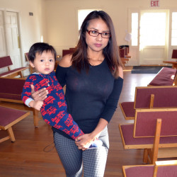 Above: Ingrid Encalada Latorre and her year-old son are living at the Mountain View Friends Meeting in Denver, one of hundreds of houses of worship offering sanctuary to people who fear deportation under the Trump administration.