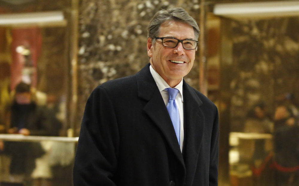Former Texas Gov. Rick Perry is President-elect Donald Trump's choice to become Energy secretary.