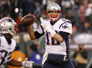 Patriots quarterback Tom Brady has 22 touchdown passes and just two interceptions in nine games this season, good for a league-best 113.6 passer rating.
