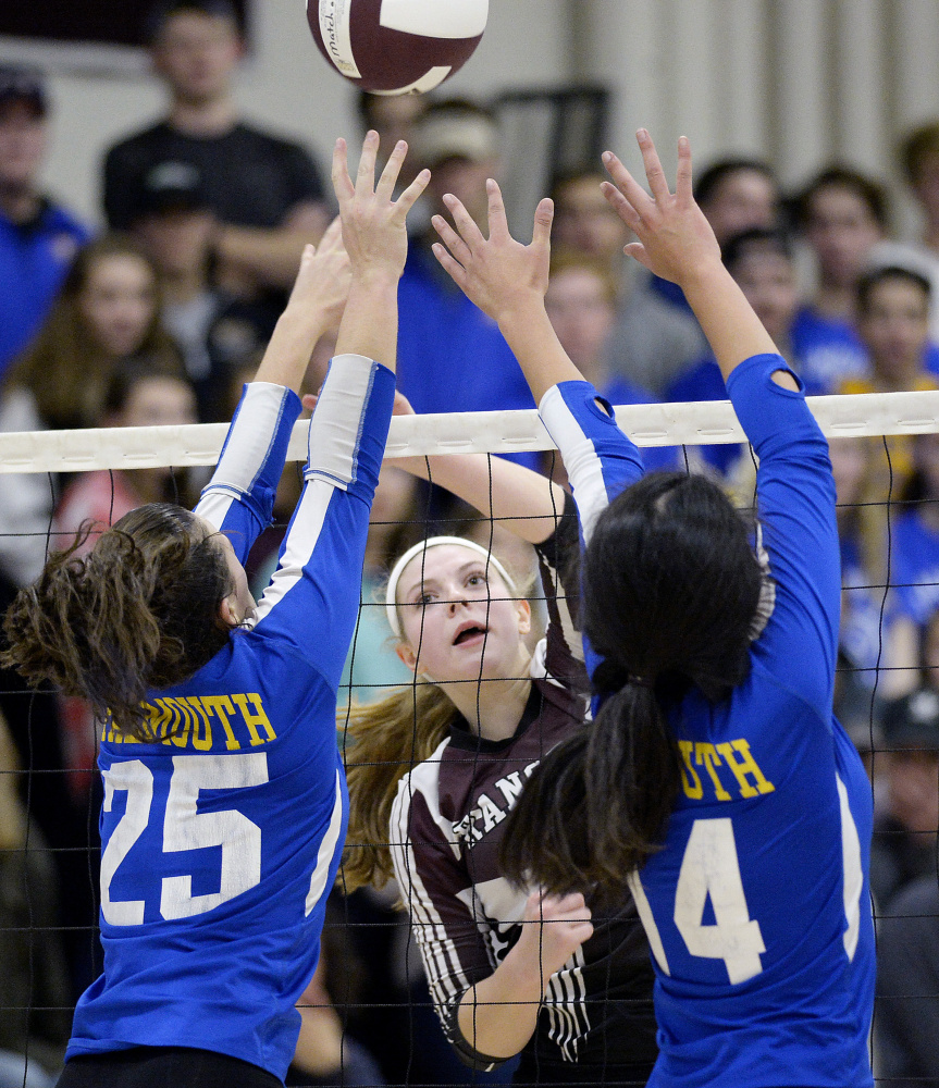 Kayley Cimino focused much of her effort this season on helping her teammates improve, but she also collected 180 kills and 82 aces while leading Greely to the Class A state championship.