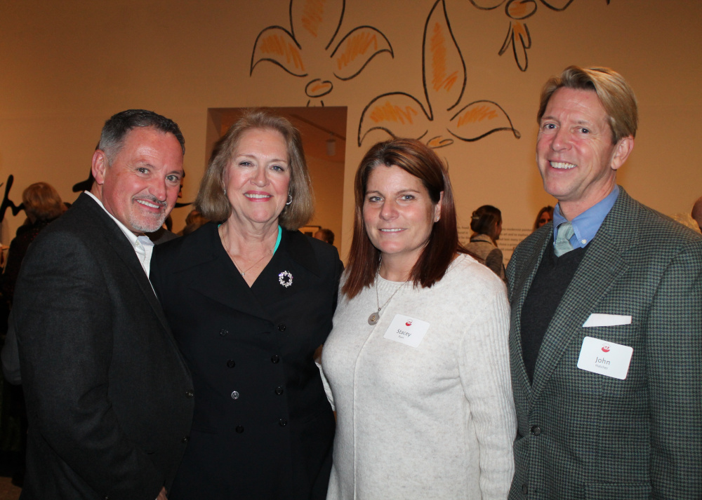 Dan Kennedy of Portland with his partner, John Hatcher, a member of the PMA's Director's Circle; Steering Committee member Mary Jo Kolkhorst and Stacey Ryan of Portland