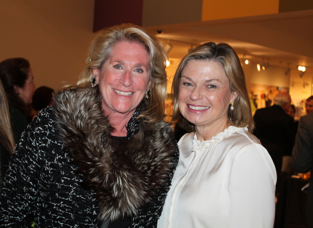 Betsy Evans Hunt, left, of Cape Elizabeth with Trish O'Carroll of Falmouth.
