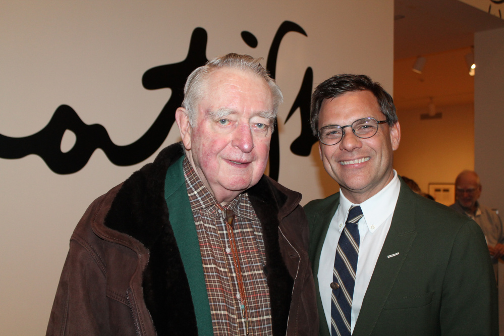 Honorary trustee Harry Konkel with Mark Bessire, the Judy and Leonard Lauder director of the Portland Museum of Art.