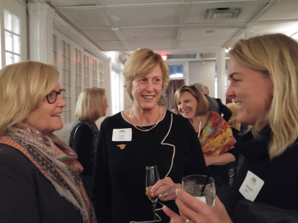 Congresswoman Chellie Pingree with Debby Murray and Alexandra Meyer at the Maine Gun Safety Coalition event.