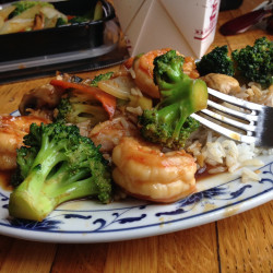 Shrimp with vegetables at Li's Place in Freeport. Mary Pols/Staff Writer