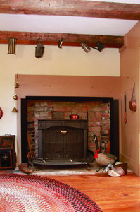 One of the home's three wood stoves.