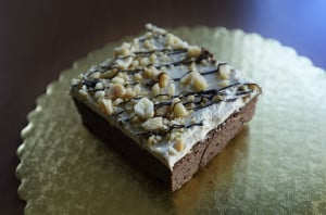 Peanut butter brownies are one of the popular items at Foley's Bakery in Portland.