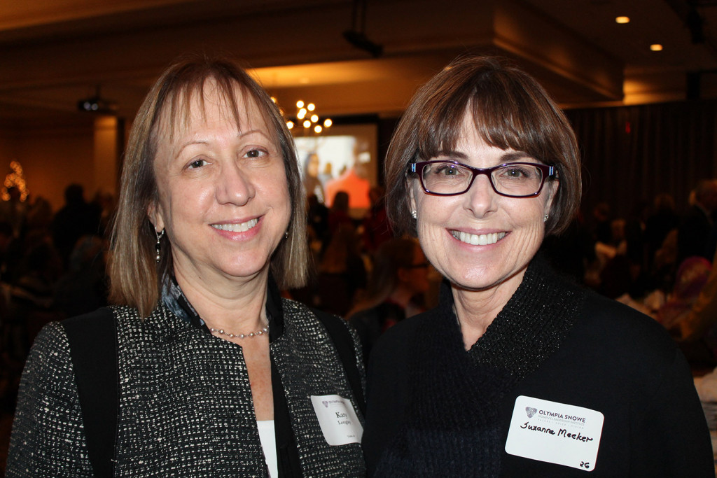 Katy Longley, chief financial officer at The Jackson Laboratory, with Suzanne Meeker, a partner at Verrill Dana.